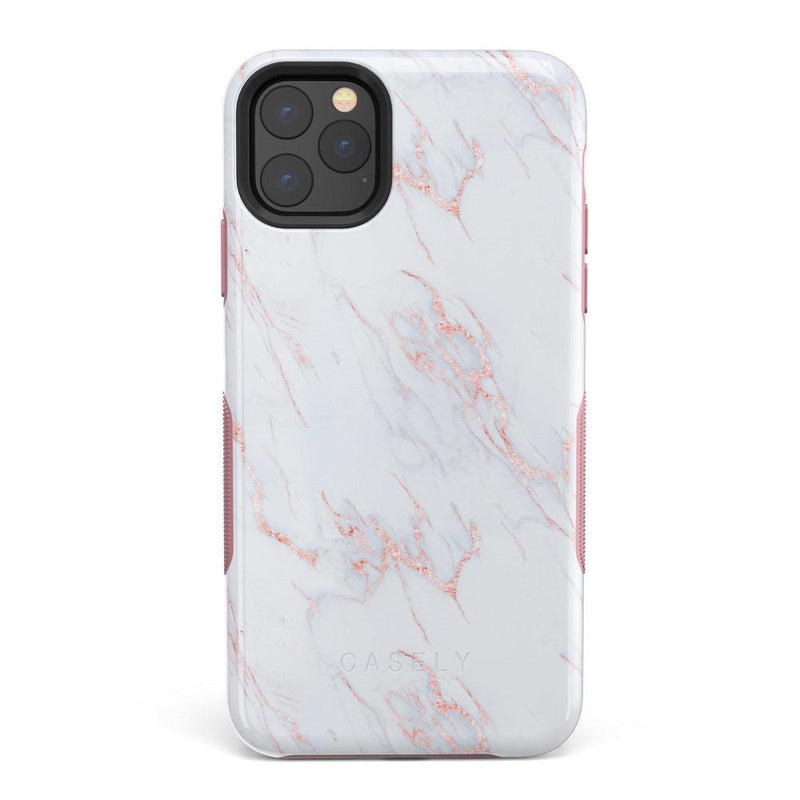 Beautiful White and Pink Marble Case iPhone Case Get.Casely Bold iPhone 11 Pro Max