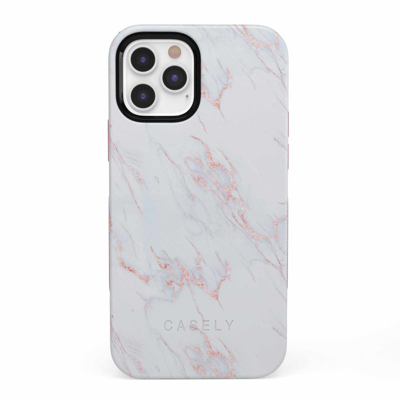 Beautiful White and Pink Marble Case iPhone Case get.casely Bold iPhone 12 Pro