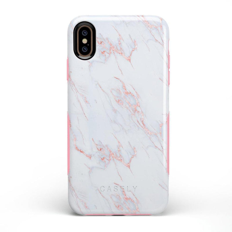 Beautiful White and Pink Marble Case iPhone Case Get.Casely Bold iPhone XS Max