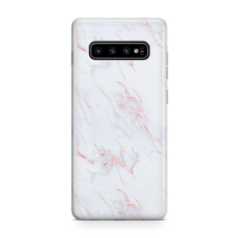 Beautiful White and Pink Marble Case iPhone Case Get.Casely Classic Galaxy S10 Plus