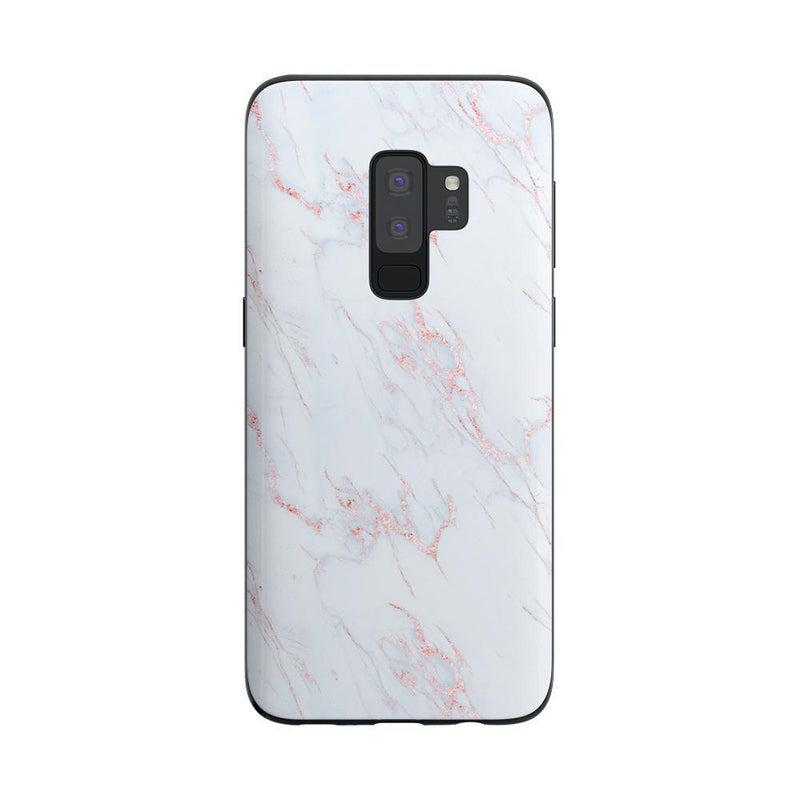 Beautiful White and Pink Marble Case iPhone Case Get.Casely Classic Galaxy S9 Plus