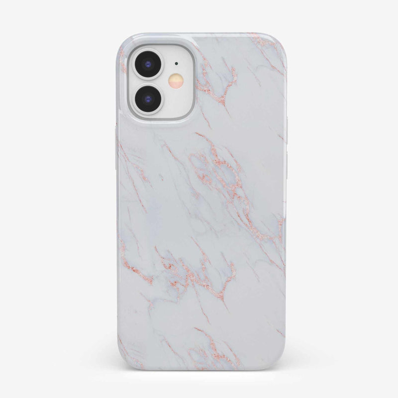 Beautiful White and Pink Marble Case iPhone Case get.casely Classic iPhone 12 Mini
