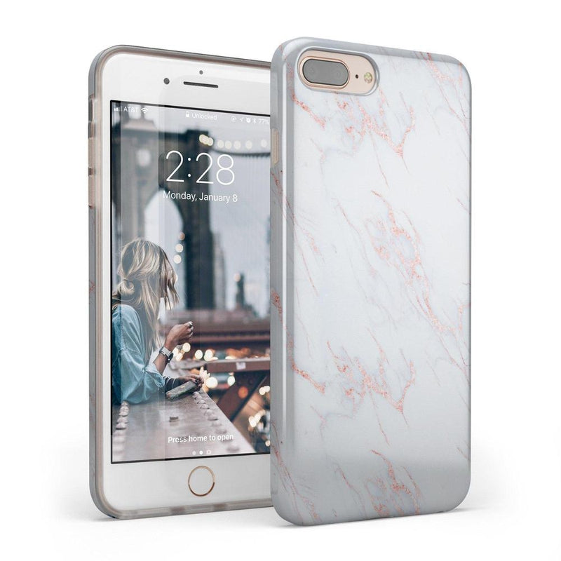 Beautiful White and Pink Marble Case iPhone Case Get.Casely Classic iPhone 6/6s Plus