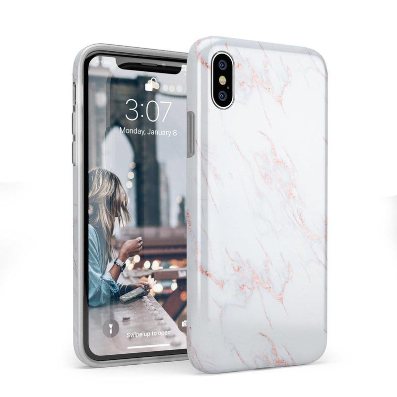 Beautiful White and Pink Marble Case iPhone Case Get.Casely Classic iPhone X / XS