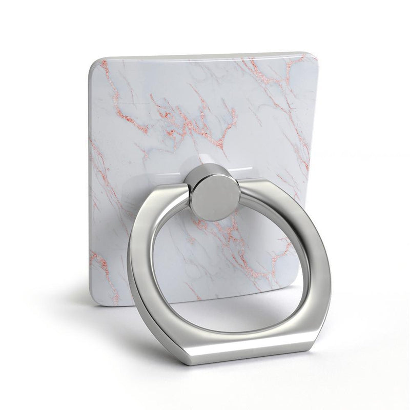 Beautiful White and Pink Marble Phone Ring Phone Ring get.casely