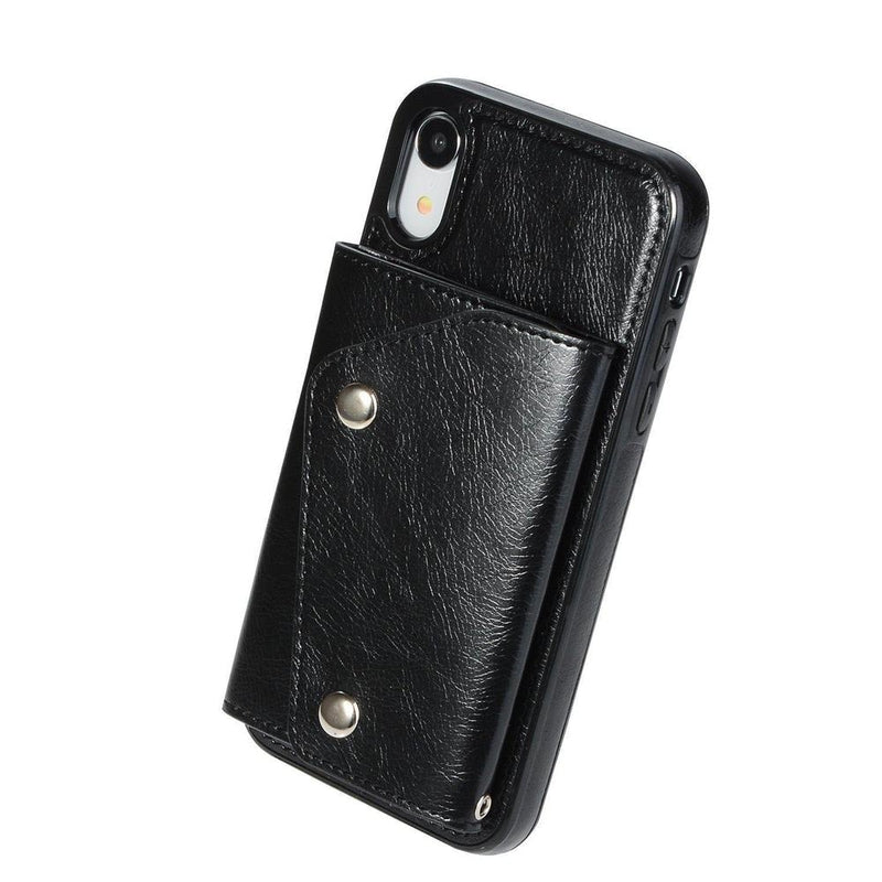 Black Leather Wallet Case iPhone Case get.casely