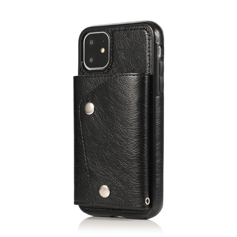 Black Leather Wallet Case iPhone Case get.casely iPhone 11