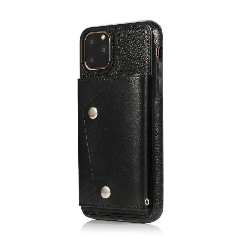 Black Leather Wallet Case iPhone Case get.casely iPhone 11 Pro