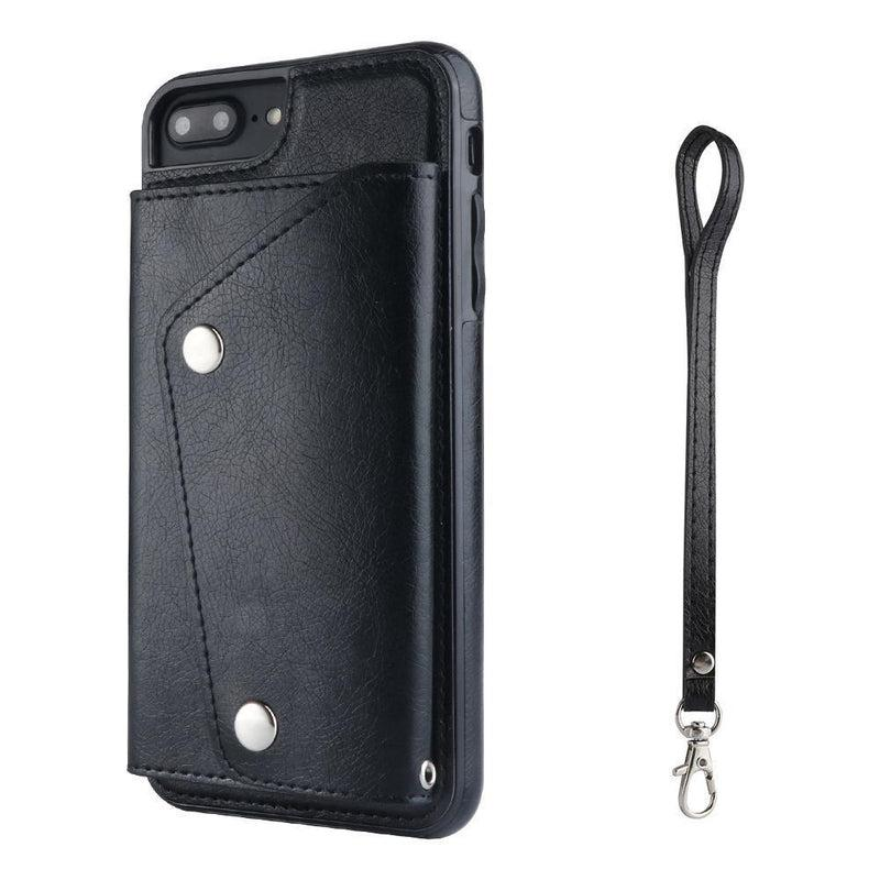 Black Leather Wallet Case iPhone Case get.casely iPhone 6/6s