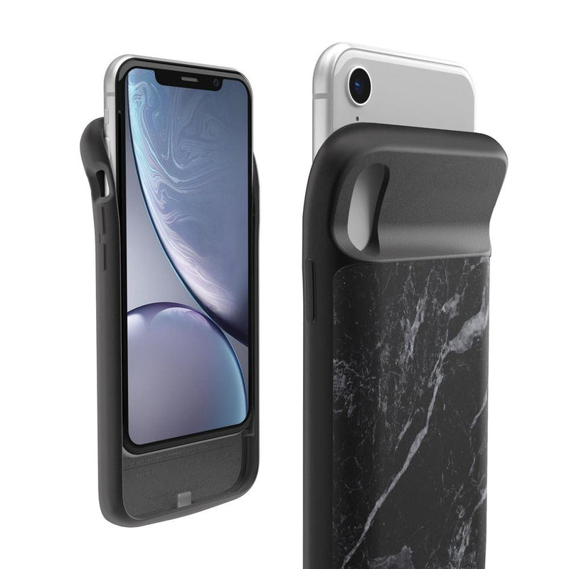 Black Marble Battery-Powered Charging Case iPhone Case get.casely