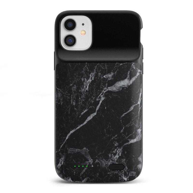 Black Marble Battery-Powered Charging Case iPhone Case get.casely Power 2.0 iPhone 11