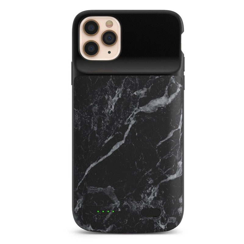 Black Marble Battery-Powered Charging Case iPhone Case get.casely Power 2.0 iPhone SE (2020)