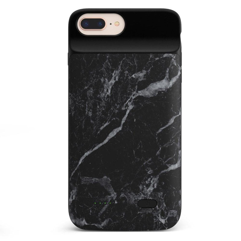 Black Marble Battery-Powered Charging Case iPhone Case get.casely Power 2.0 iPhone 8 Plus