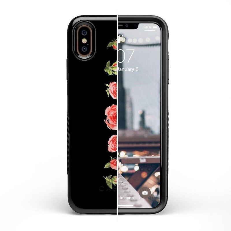 Blooming Red Rose Case iPhone Case CASELY