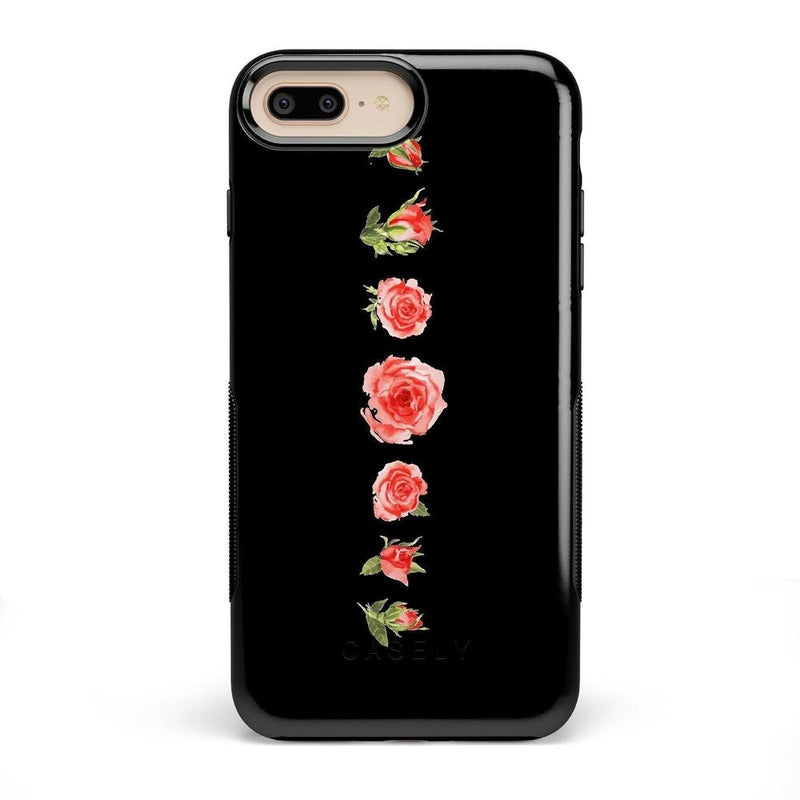 Blooming Red Rose Case iPhone Case CASELY Bold iPhone 8 Plus