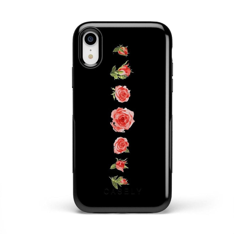 Blooming Red Rose Case iPhone Case CASELY Bold iPhone XR