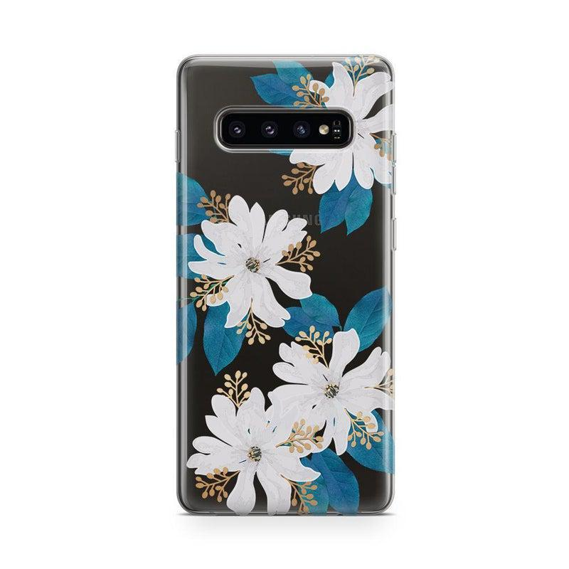 Shiny gold floral phone case