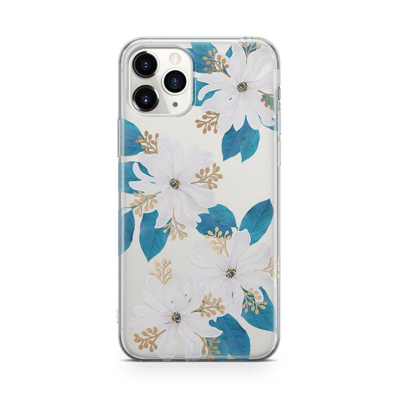 Blue and Gold Clear Floral Case iPhone Case Get.Casely Classic iPhone 11 Pro