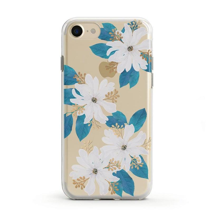 Blue and Gold Clear Floral Case iPhone Case Get.Casely Classic iPhone 6/6s