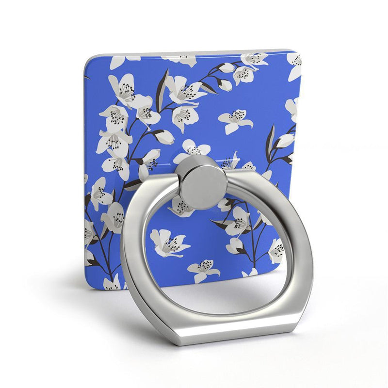 Blue Cherry Blossom Floral Phone Ring Phone Ring get.casely