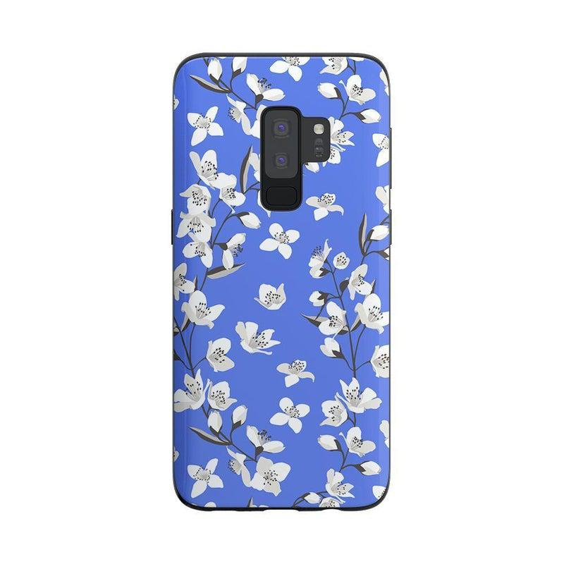 Blue Flower Power Floral Case iPhone Case Get.Casely Classic Galaxy S9 Plus
