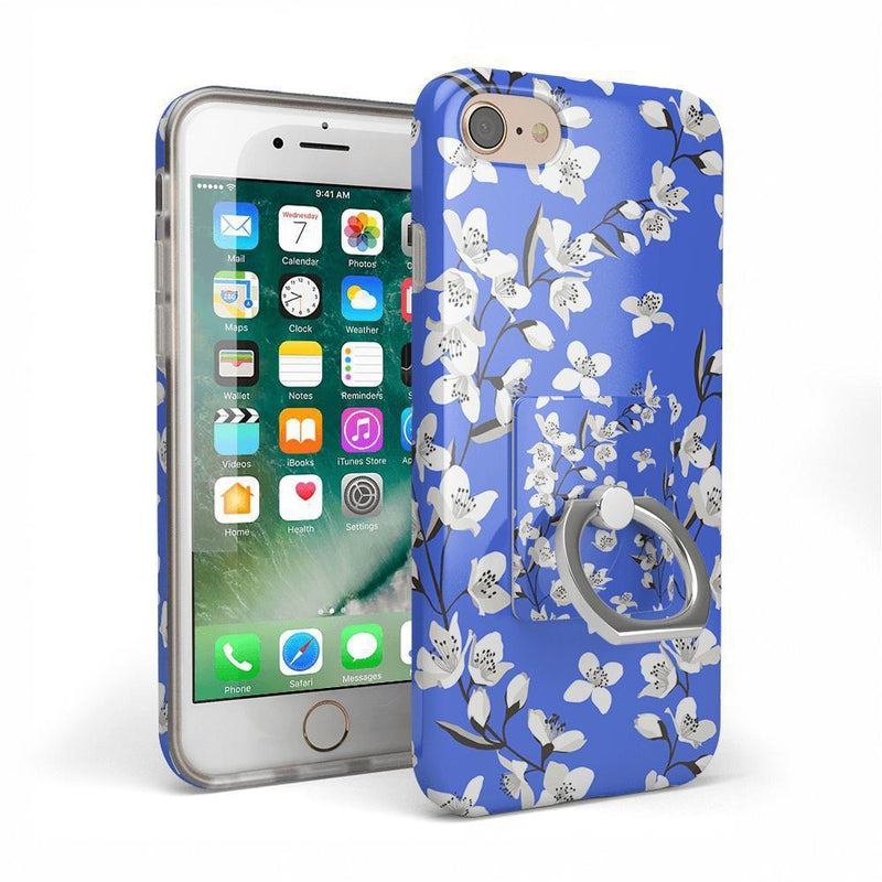 Blue Flower Power Floral Phone Ring Phone Ring Get.Casely