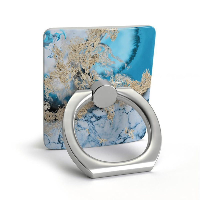 Blue & Gold Swirl Marble Phone Ring Phone Ring get.casely