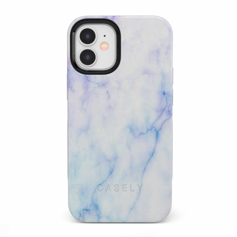 Blue & Purple Cotton Candy Marble Case iPhone Case get.casely Bold iPhone 12 Mini