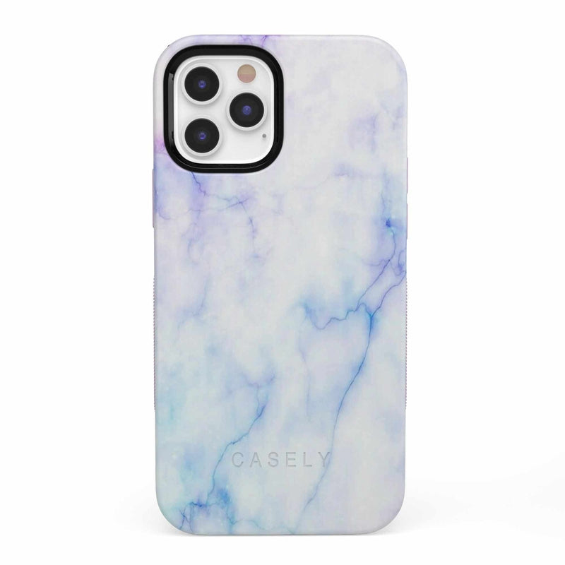 Blue & Purple Cotton Candy Marble Case iPhone Case get.casely Bold iPhone 12 Pro