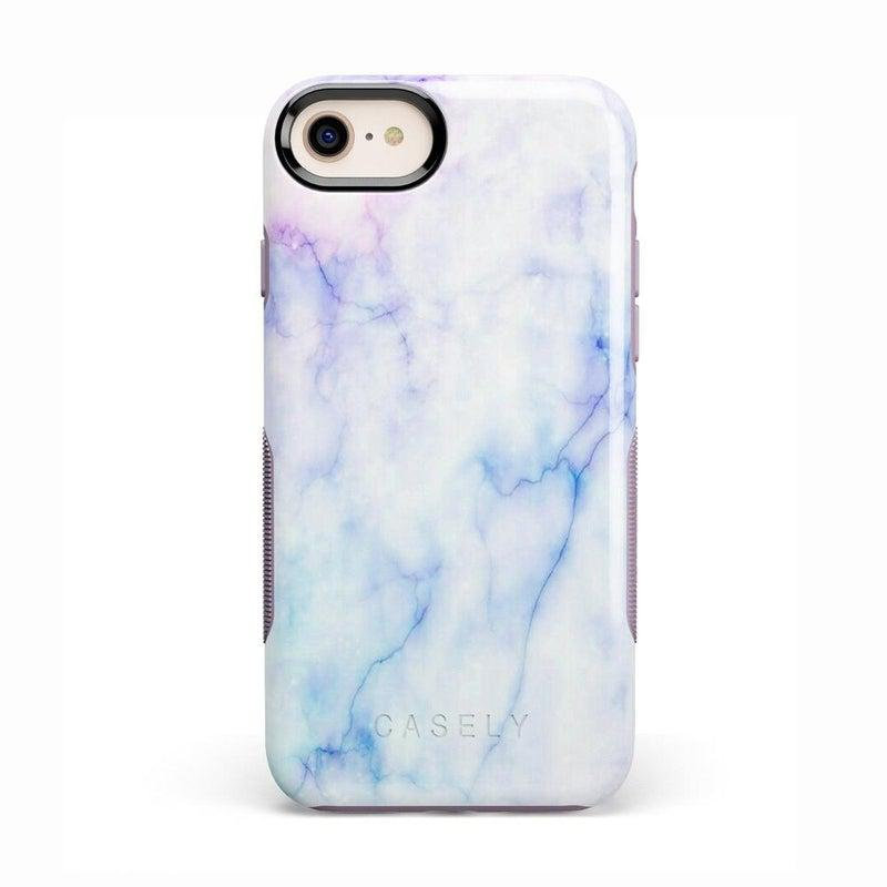 Blue & Purple Cotton Candy Marble Case iPhone Case Get.Casely Bold iPhone 8