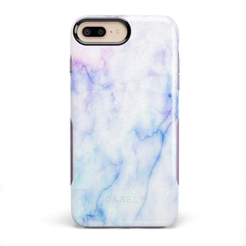 Blue & Purple Cotton Candy Marble Case iPhone Case Get.Casely Bold iPhone 8 Plus