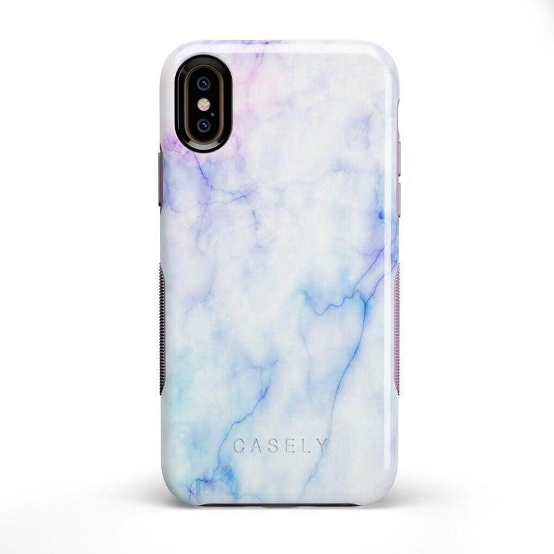 Blue & Purple Cotton Candy Marble Case iPhone Case Get.Casely Bold iPhone X / XS