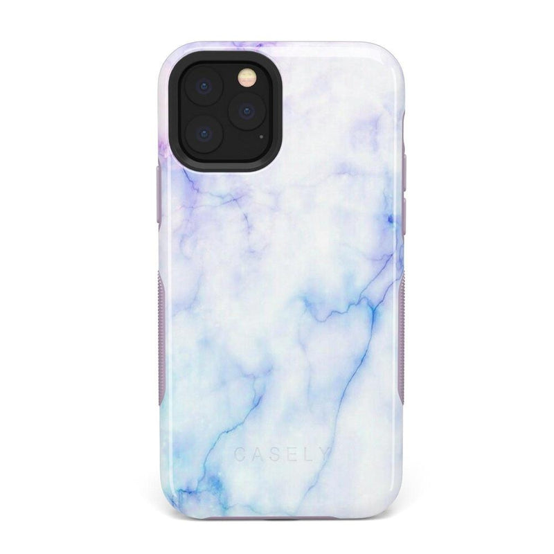 Blue & Purple Cotton Candy Marble Case iPhone Case Get.Casely Bold iPhone XI