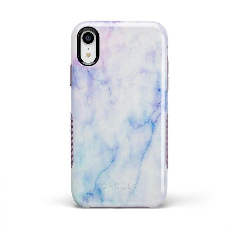 Blue & Purple Cotton Candy Marble Case iPhone Case Get.Casely Bold iPhone XR