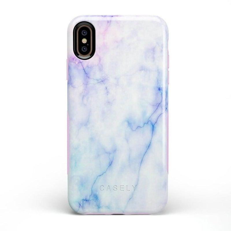 Blue & Purple Cotton Candy Marble Case iPhone Case Get.Casely Bold iPhone XS Max