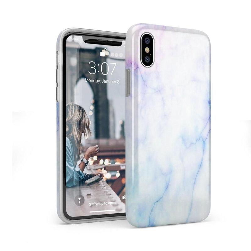 Blue & Purple Cotton Candy Marble Case iPhone Case Get.Casely Classic iPhone X / XS