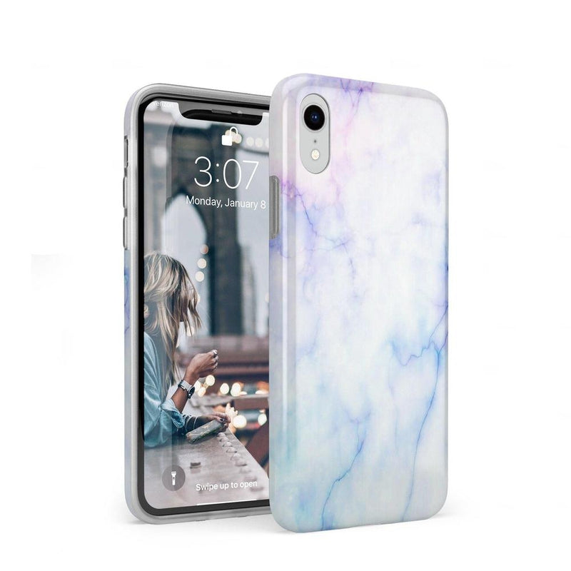 Blue & Purple Cotton Candy Marble Case iPhone Case Get.Casely Classic iPhone XR
