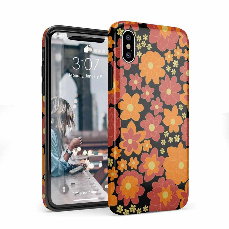 Bright Retro Floral Case iPhone Case Get.Casely Classic iPhone 6/6s