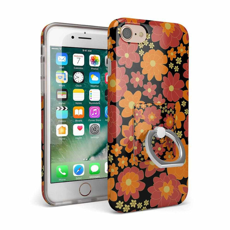 Bright Retro Floral Phone Ring Phone Ring Get.Casely