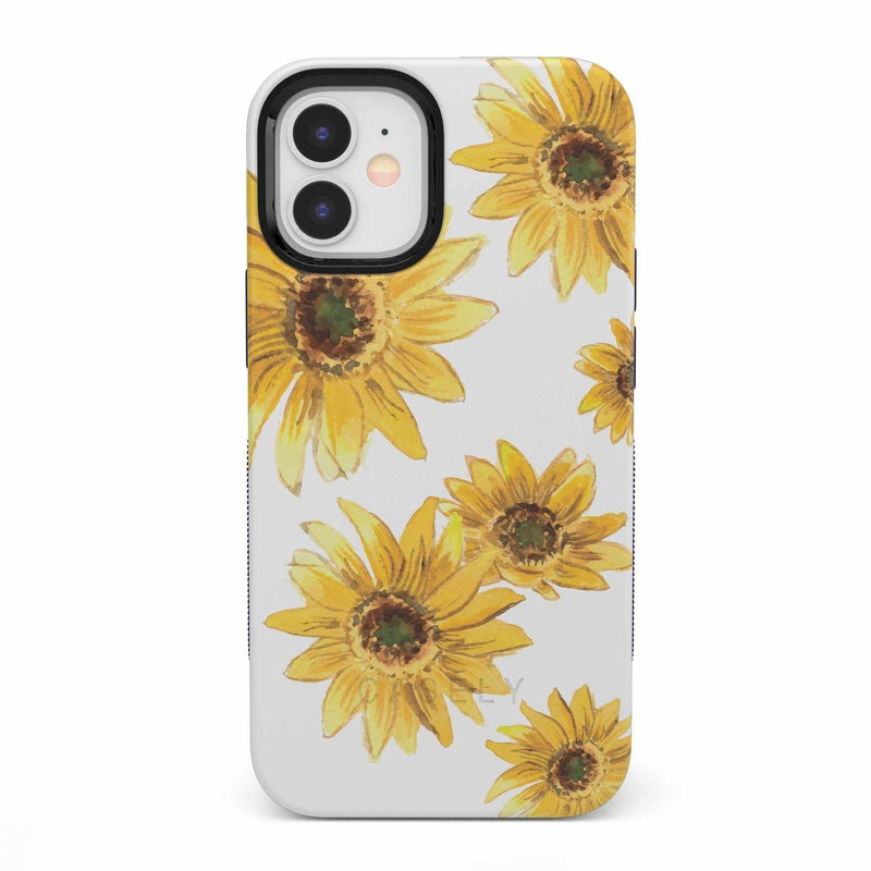 Bright Yellow Sunflowers Case iPhone Case get.casely Bold iPhone 12 Mini