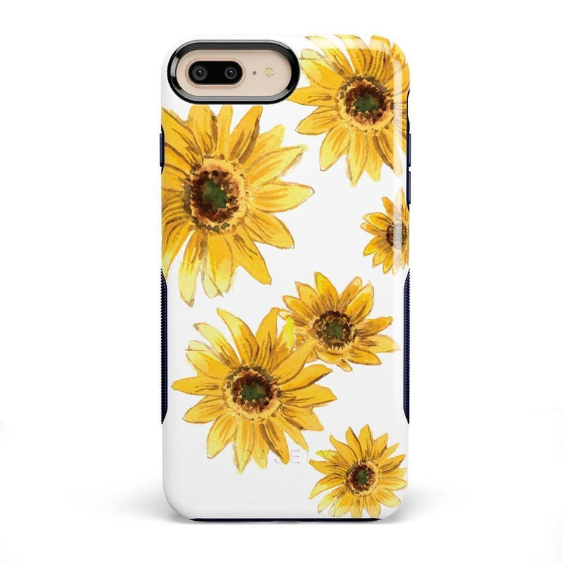 Bright Yellow Sunflowers Case iPhone Case Get.Casely Bold iPhone 8 Plus