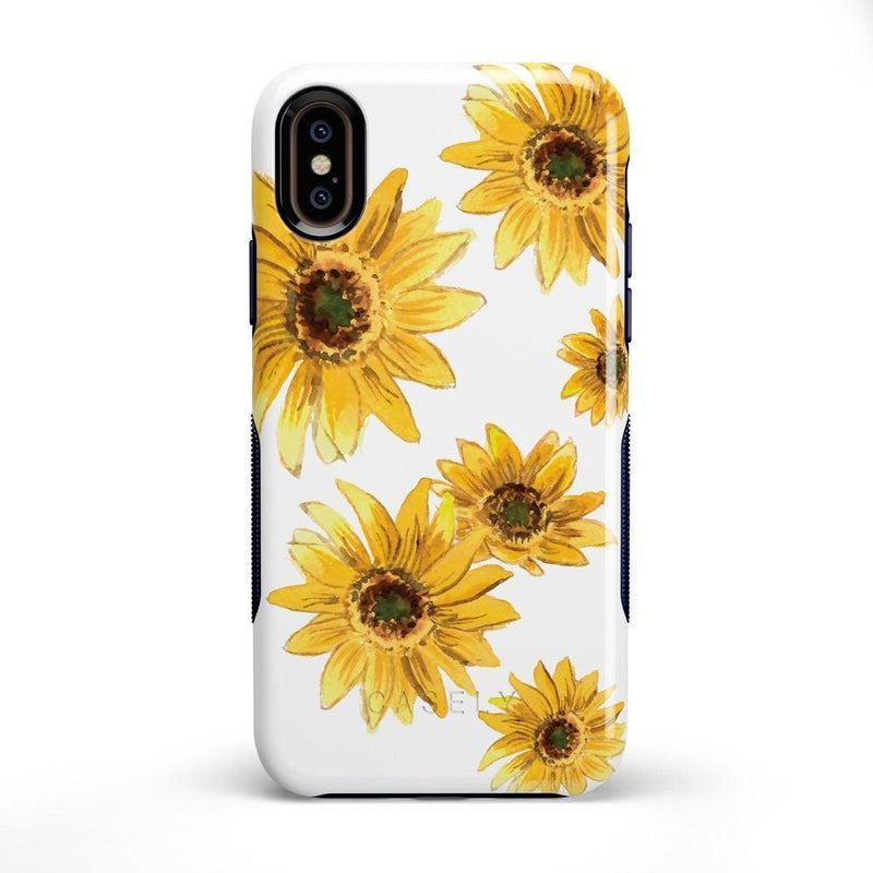 Bright Yellow Sunflowers Case iPhone Case Get.Casely Bold iPhone X / XS
