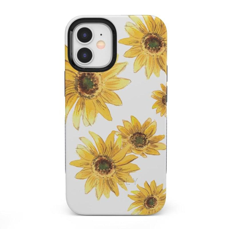 Bright Yellow Sunflowers Case iPhone Case get.casely Bold + MagSafe® iPhone 12