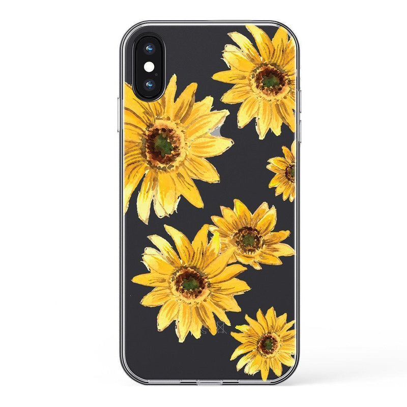 Bright Yellow Sunflowers Case iPhone Case Get.Casely Classic iPhone X / XS