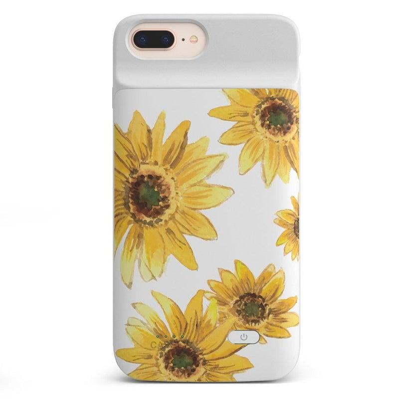 Bright Yellow Sunflowers Case iPhone Case get.casely Power 2.0 iPhone 8 Plus