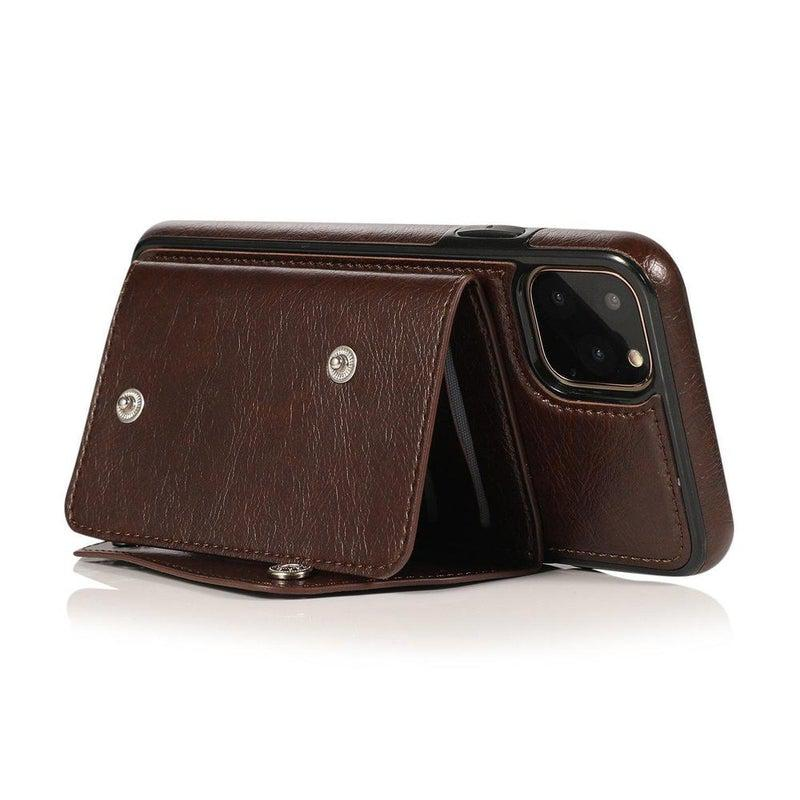 Brown Leather Wallet Case iPhone Case get.casely