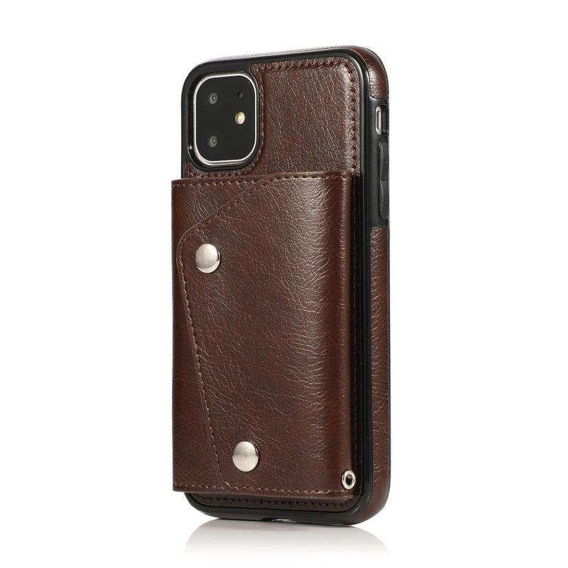 Brown Leather Wallet Case iPhone Case get.casely iPhone 11