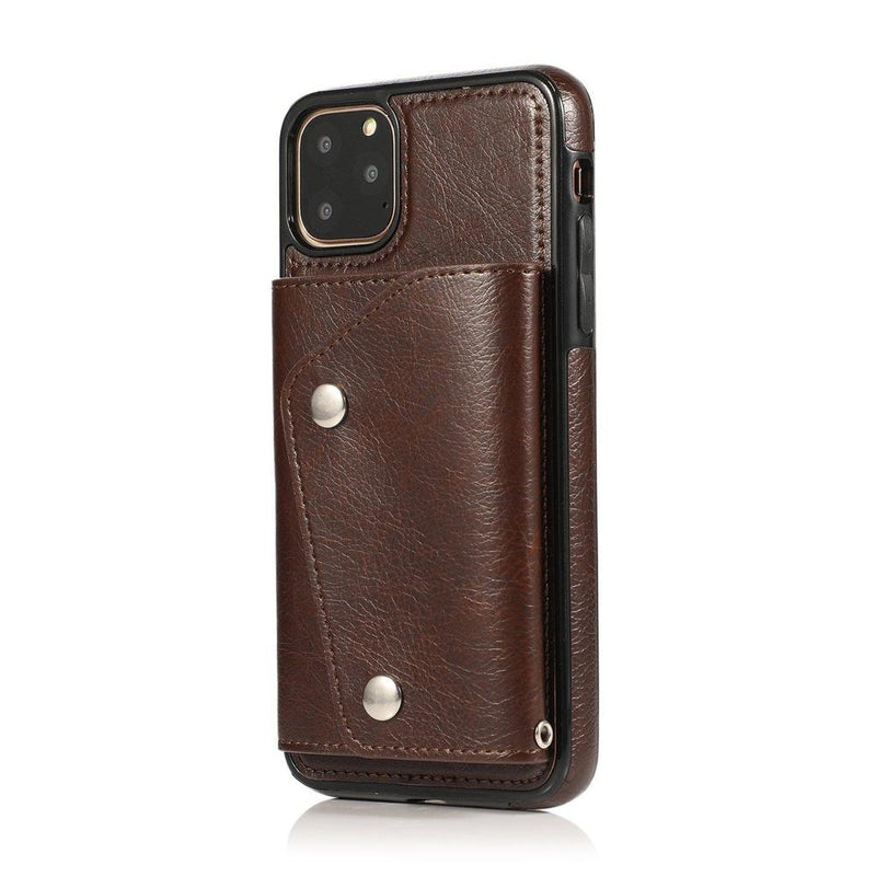 Brown Leather Wallet Case iPhone Case get.casely iPhone 11 Pro