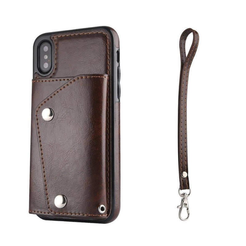 Brown Leather Wallet Case iPhone Case get.casely iPhone X / XS