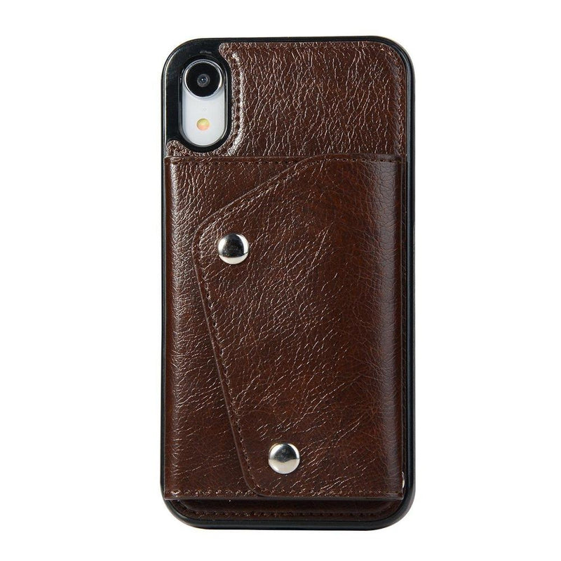 Brown Leather Wallet Case iPhone Case get.casely iPhone XR